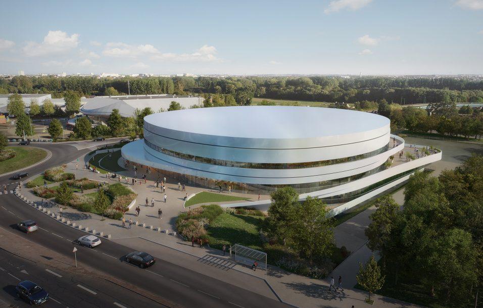 Vue aérienne du palais des sports de Caen - Chabanne Architectes