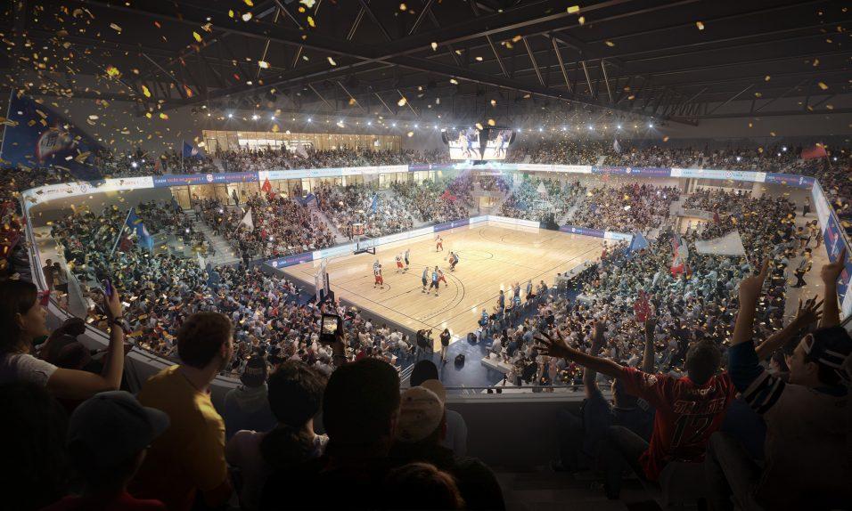 Vue du stadium du palais des sports de Caen - Chabanne Architectes