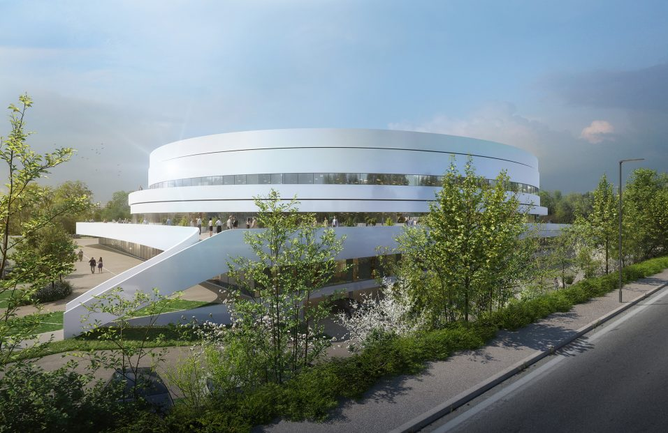 Vue depuis la route du palais des sports de Caen - Chabanne Architectes