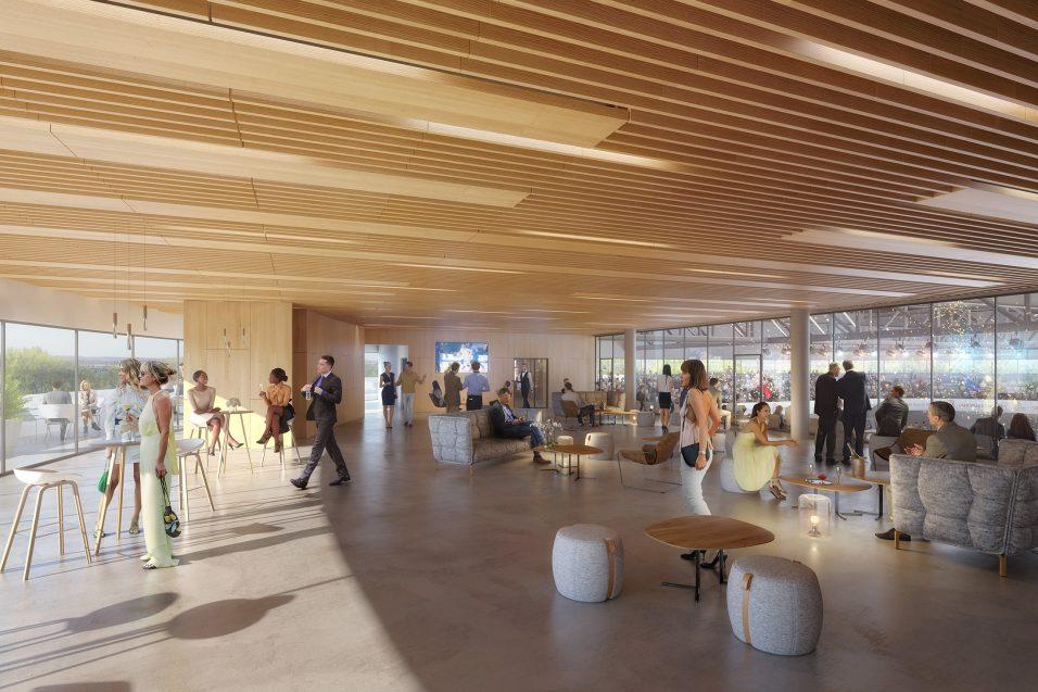 Vue du salon VIP du palais des sports de Caen - Chabanne Architectes