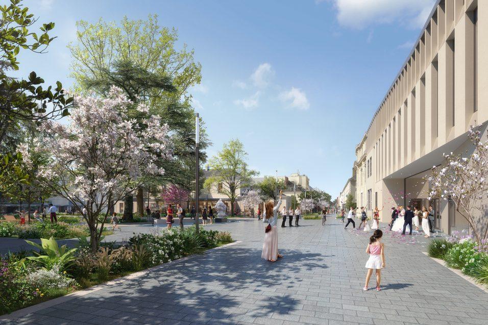 Place de la mairie - Pena Paysages / Richez Associés - La Roche-sur-Yon