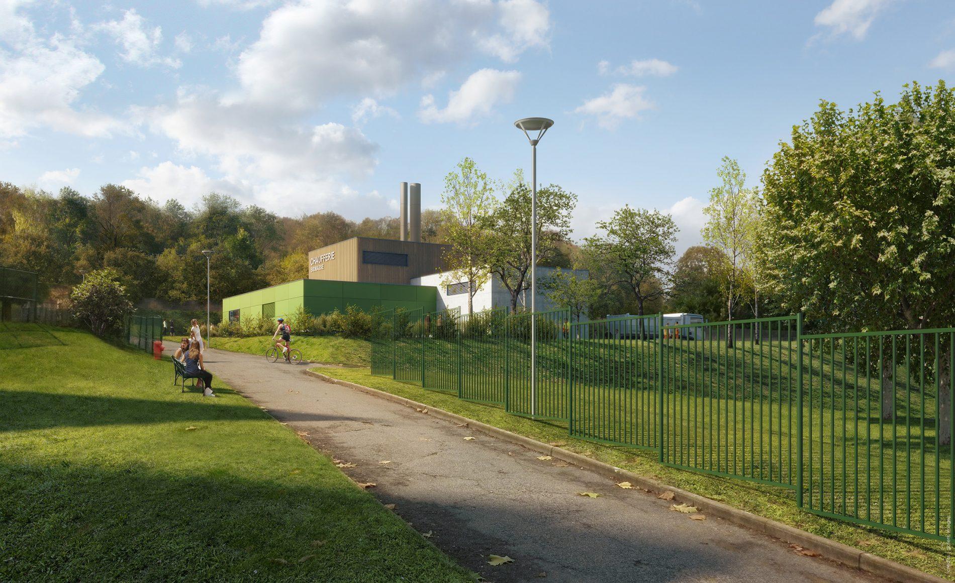 Image du concours d'architecture de la chaufferie biomasse à Maxence