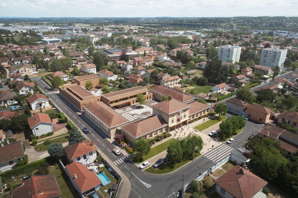 Image (vue aérienne) du concours d'architecture du futur groupe scolaire de Villefranche-sur-Saône