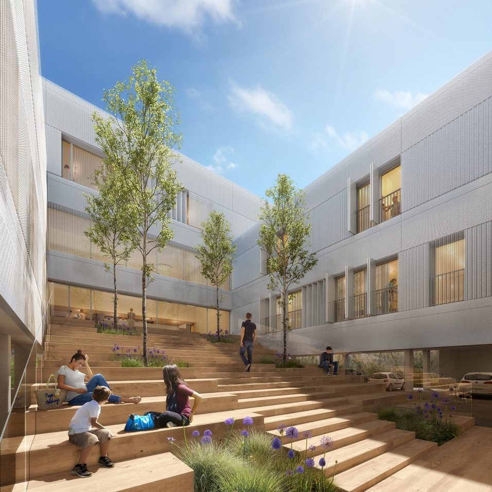Image du concours d'architecture de la future maternité d'Arpajon