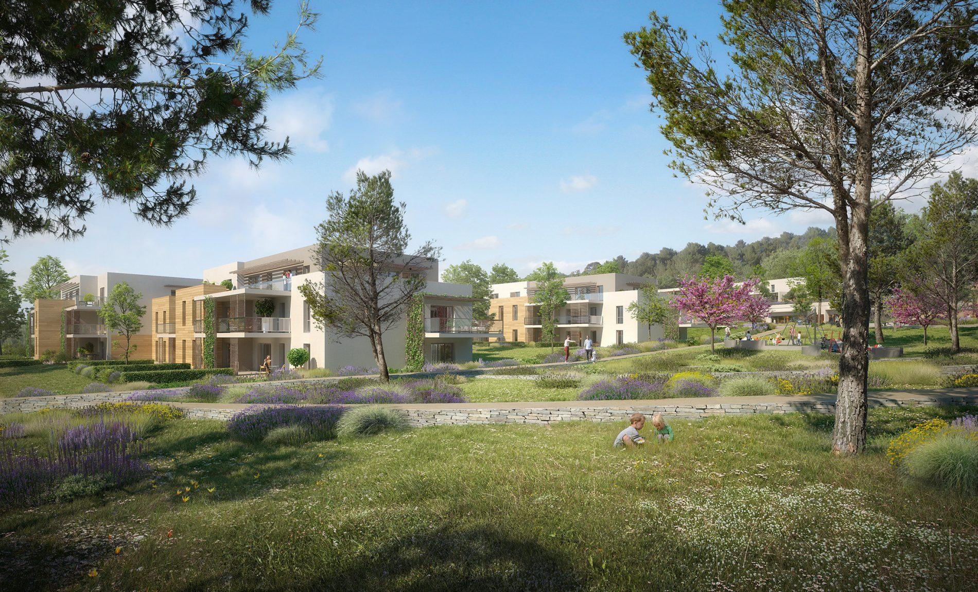 Image du concours d'architecture de logements et de son parc arboré, Coste Chaude